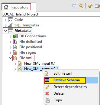 Centralizing XML File Metadata