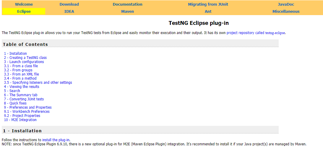 TestNG Installation and Configuration in Eclipse