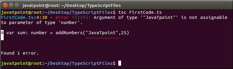 TypeScript First Program