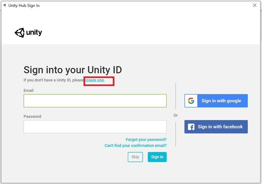 Installing Unity