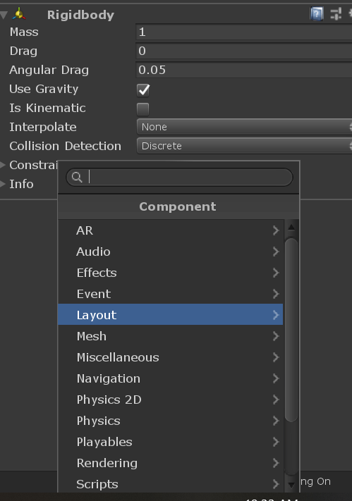Unity Components