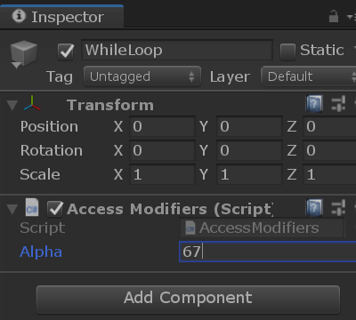 Scope and Access Modifiers