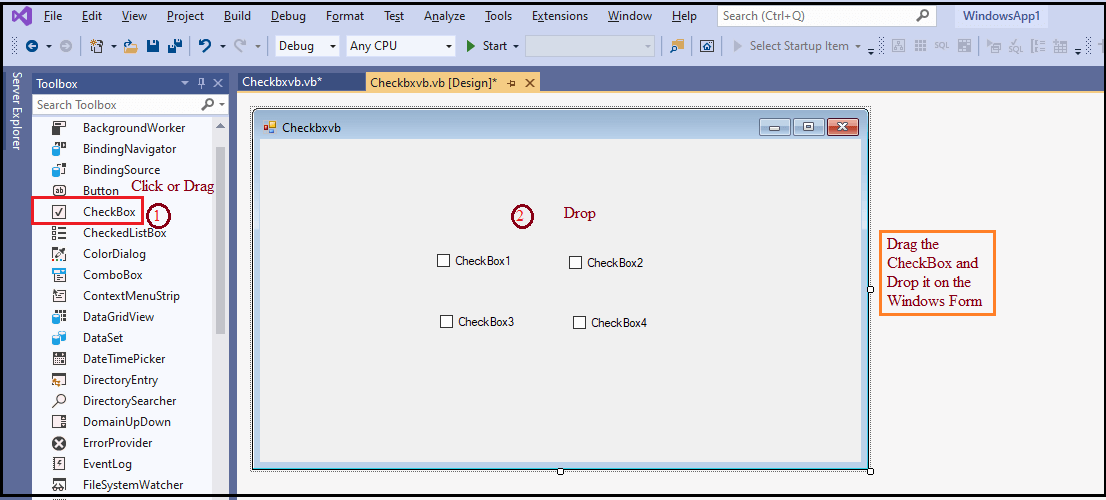 VB.NET CheckBox Control