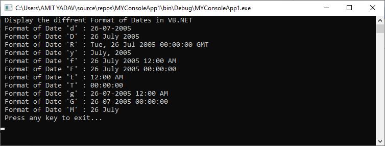 VB.NET Date & Time