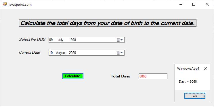 VB.NET DateTimePicker Control
