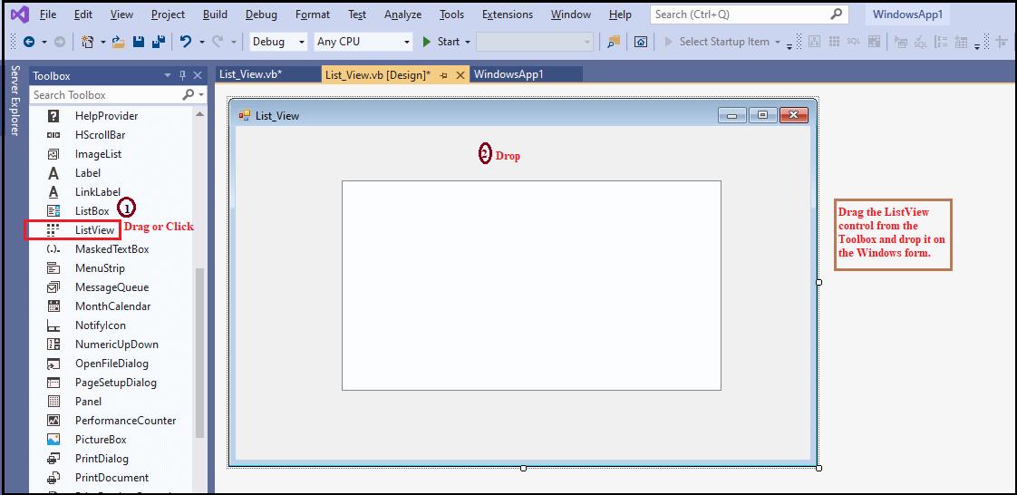 VB.NET ListView Control