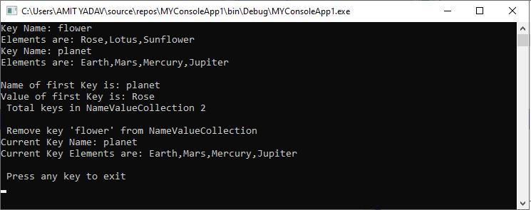 VB.NET NameValueCollection