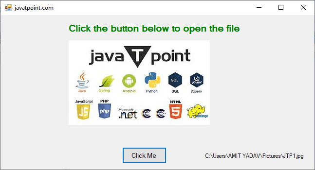 VB.NET OpenFile Dialog Box