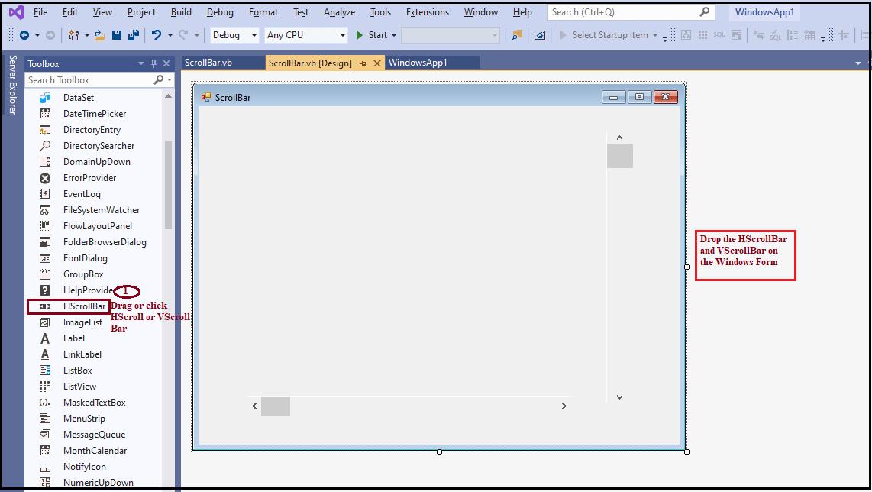 VB.NET ScrollBars Control
