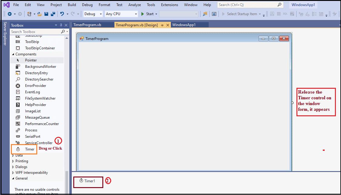 VB.NET Timer Control
