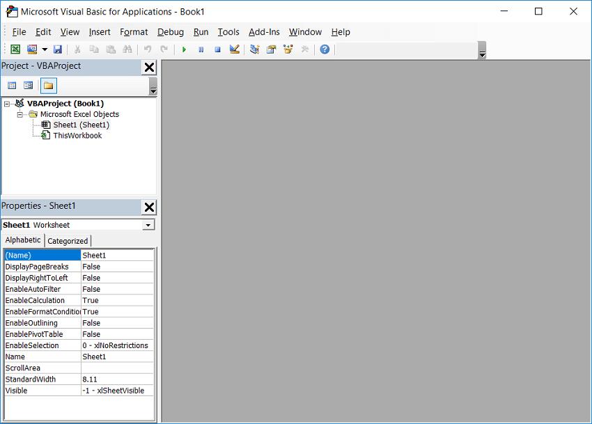 Access a VBA Editor