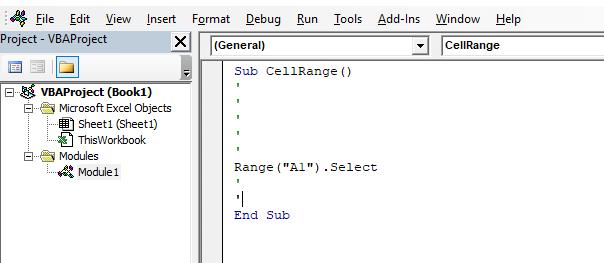 Excel VBA Range