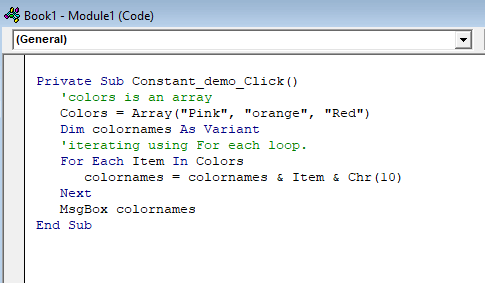 VBA For Each Loop