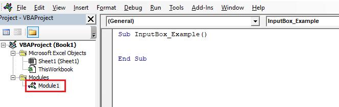 VBA InputBox