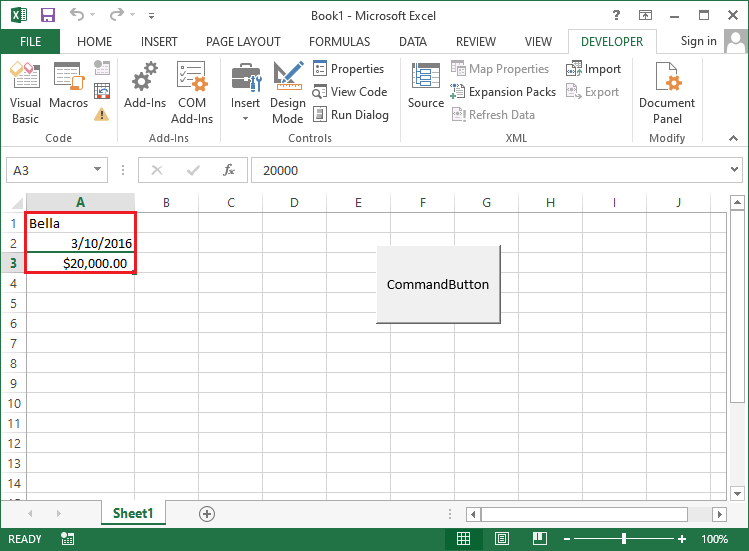 VBA Variables