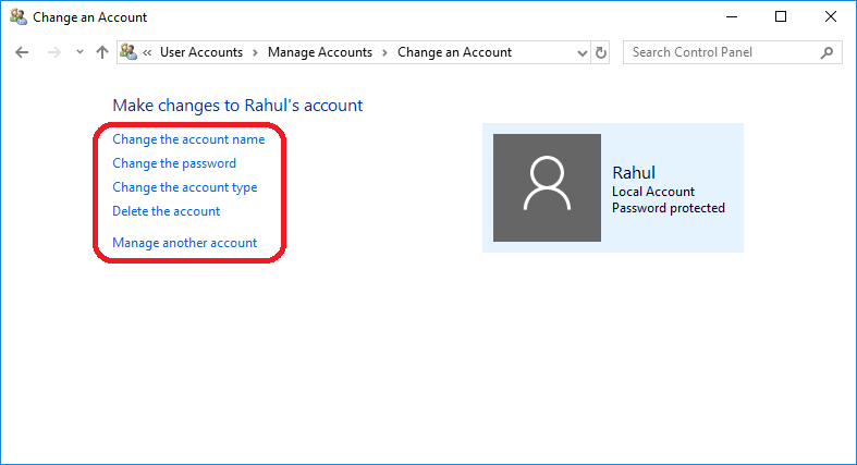 How to change Administrator on Windows 10