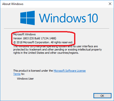 How to check the Windows version