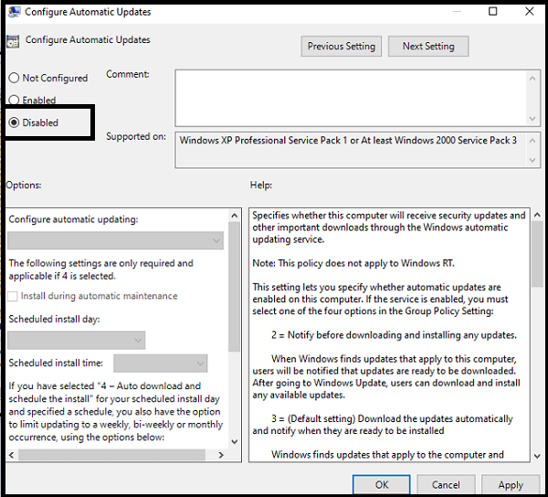 How to Disable Windows 10 Update