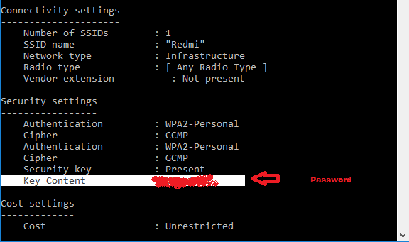 How to see the Wi-Fi password in Windows 10