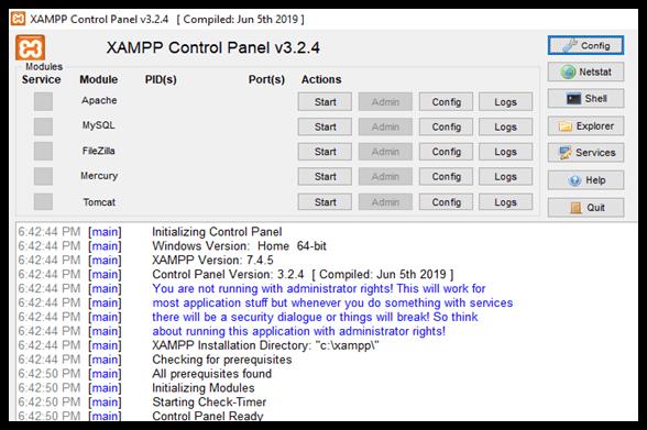 INSTALLATION PROCESS OF XAMPP