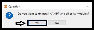 UNINSTALLING XAMPP COMPLETELY
