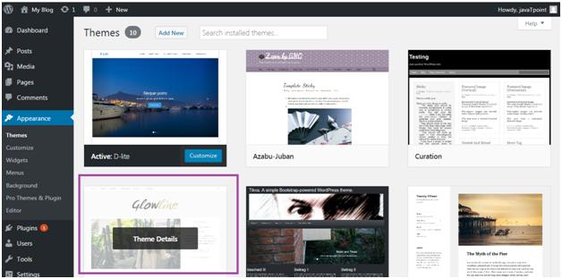Wordpress Appearence1