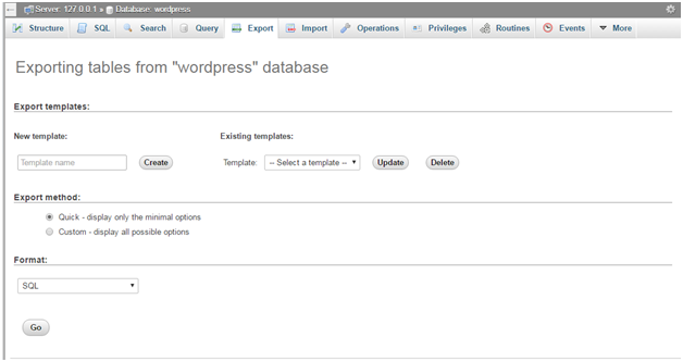 Wordpress How to backup wordpress site3