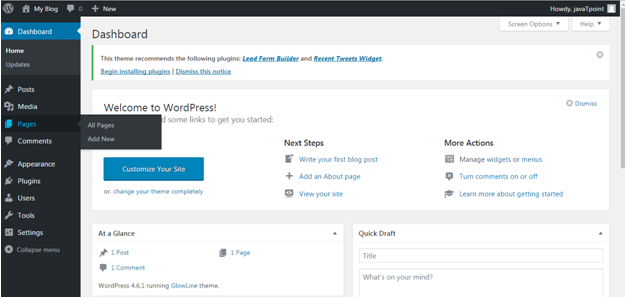 Wordpress How to create a wordpress site4