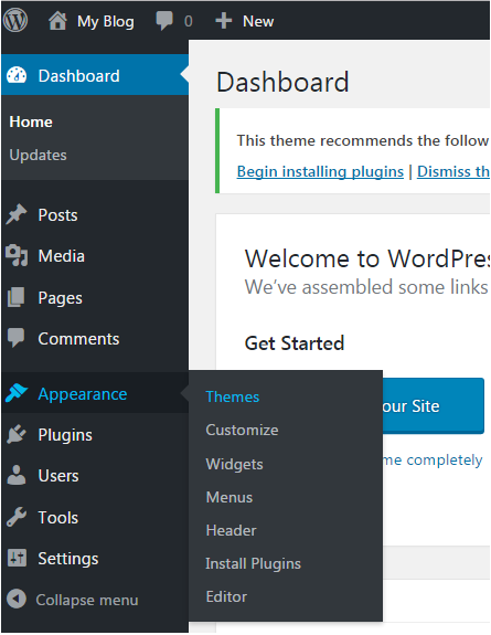 Wordpress How to install wordpress themes1