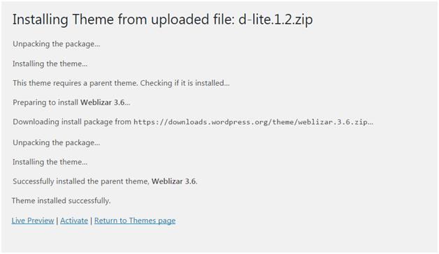 Wordpress How to install wordpress themes12
