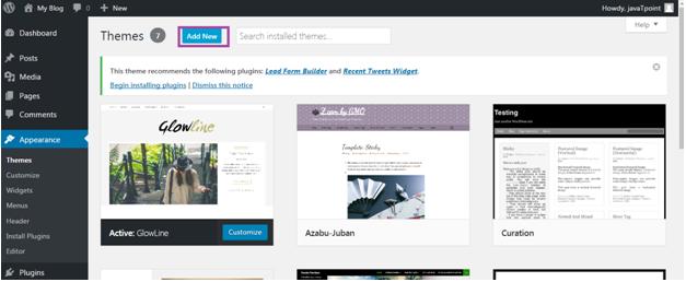 Wordpress How to install wordpress themes2