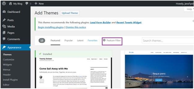 Wordpress How to install wordpress themes3