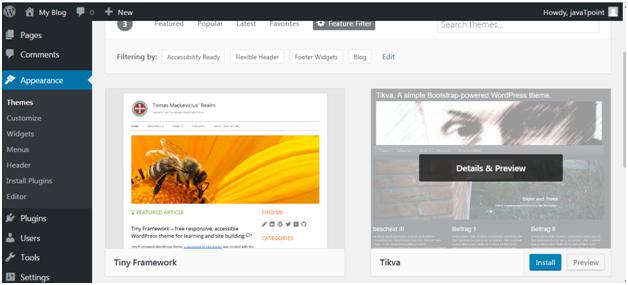 Wordpress How to install wordpress themes6