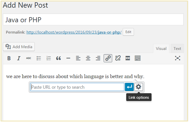 Wordpress Link in WordPress Posts and Pages2