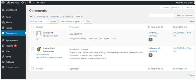 Wordpress Wordpress comment5