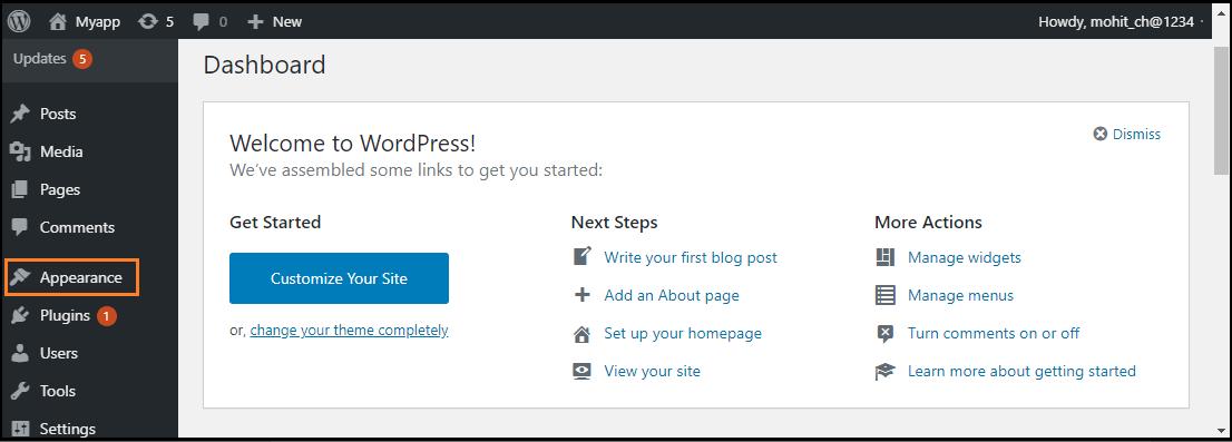 WordPress Menus