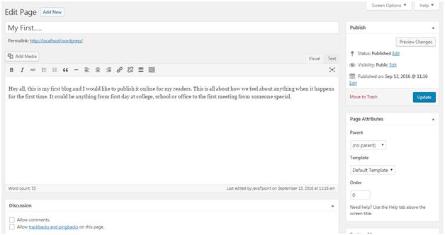 Wordpress Wordpress pages4
