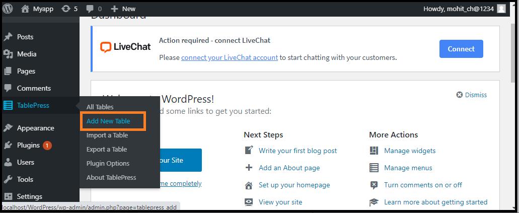 WordPress Table