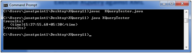 XQUERY Current time function 1