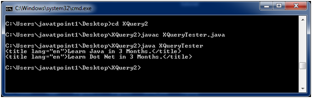 XQUERY First example 1
