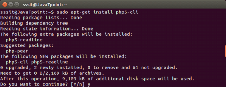 YII Installation in linux 2
